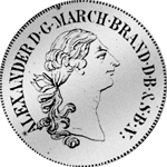 Brandenburger Konventions Spezies Taler 1769 Silber Münze