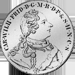 Brandenburger Konventions Speziestaler von 1754 Silber Münze
