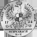 Rückseite Brandenburger Konventions Spezies Taler Silber Münze