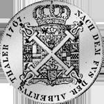 Rückseite Kreuz Taler Silber Münze Burgundischer Fuß 1767