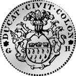 Rückseite Kölner Dukaten Silber Münze