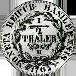 1765 Silber Münze Halber Taler Schweizer Gulden Basel