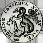 1800 Taler Silber Münze Basel
