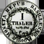 1800 Silber Taler Münze Basel