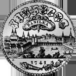 1741 Silber Münze Taler Basel