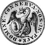 1741 Taler Silber Basel Münze