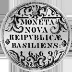 1669 Taler Silber Münze Basel
