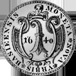 Basel Taler 1640 Silber Münze