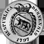 1797 Silber Münze ein Frank 10 Batzen Bern