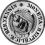 Bern 1 Frank 1680 Silber Münze 1/4 Taler