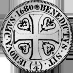 Silber Münze Bern 1680 1 Frank 1/4 Taler