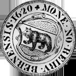 1620 Silber Münze Dicken Bern