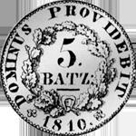 Bern Batzen 5 1/2 Frank 1810 Silber Münze