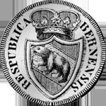 1796 Neutaler Halber Bern Münze Silber
