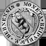 1679 Silber Münze Bern Halber Taler