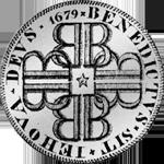 1679 Münze Silber Taler Patagon Bern