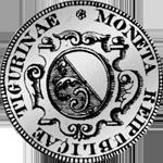 1761 Silber Münze 1/2 Gulden 20 Schilling Zürich