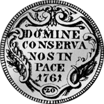Zürich Münze 1761 Silber 1/2 Gulden 20 Schilling