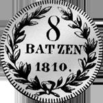 1810 8 Batzen Silber Münze Zürich