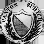 Zürich Silber Münze 20 Schilling 1/2 Gulden 1810