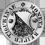 1811 Silber Münze 10 Schilling 1/4 Gulden Zürich