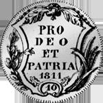 Gulden Schilling Zürich Silber Münze 1811 10 1/4