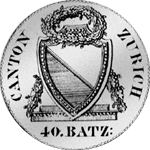 1813 Silber Münze Neutaler Zürich