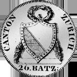 1813 Silber Münze 1/2 Neutaler 20 Batzen