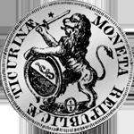 1761 Zürich Münze Silber 1/2 Taler 20 Schilling