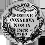 1/2 Taler Silber Münze 40 Schilling Zürich 1761