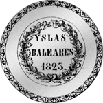 1825 Silber Münze Pesetas provinciates Peso Piaster Spanien