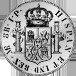 1818 Peso Piaster Säulentaler Münze Silber Spanien