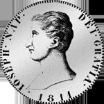 1811 Peso Silber Münze Piaster 20 Reales de Vellon Spanien
