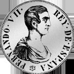 Silber Spanien Münze 5 Pesetas provinciales Piaster Peso 1809