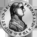 1808 Silber Münze Peso duro Spanien Pistole Säulentaler