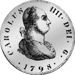 1798 Silber Münze Piaster Seviilian 8 Reales Spanien
