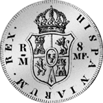 1798 Silber Münze Piaster Servillian 8 Reales