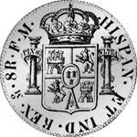 1776 Silber Münze Spanien Piaster Säulentaler 8 Reales de Mexico 20 Reales de Vellon