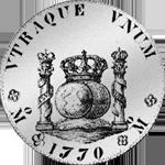 Piaster Silber Spanien Münze Säulentaler 8 Reales Mexico de Vellon 20 1770