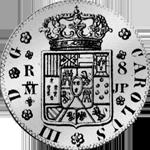 Spanien Münze Silber Piaster 8 Reales de Mexico 20 Reales Vellon
