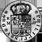 1732 Silber Münze Spanien Piaster 8 Reales de Mexico 20 de Vellon