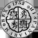 De Vellon 20 Reales Mexico 8 Piaster 1732 Silber Münze Spanien