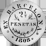 1808 Silber Münze 1/2 Piaster Escudo 1/4 Reales de Mexico 10 de Vellon Spanien