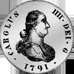 Silber Münze Spanien 1/2 Piaster Escudo de Vellon 4 Reales de Mexico Vellon