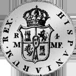 1791 Escudo Piaster Vellon Reales Mexico 4 Silber Spanien Münze