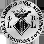 Spanien Silber Münze 1823 Pesetas 1/4 Piaster 5 Reales de Vellon