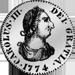 Pesetas oder 1/4 Piaster (5 Reales de Vellon) 1774