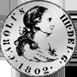 1802 Spanien Münzen Silber Pesetas 1/5 Piaster 4 Reales de Vellon