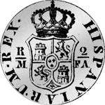 Pesetas 1/5 Piaster 4 Reales de Vellon 1802 Spanien Münzen Silber