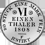 1/6 Reichs Taler Silber Münze 1808